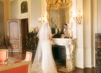 Hochzeit Braut Spiegel St Charles Hall Luzern Meggen Bilifotos.ch Fotostudio Hochzeitsfotografie