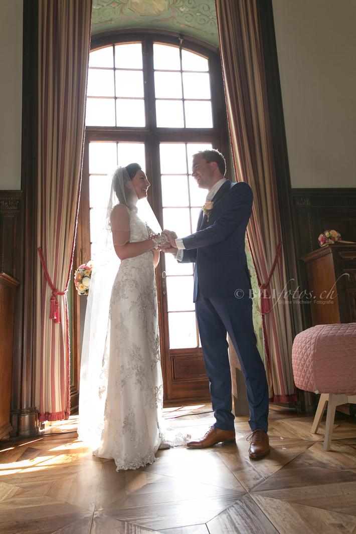 Hochzeit Brautpaar St Charles Hall Luzern Meggen @ Bilifotos.ch