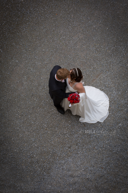 Hochzeit Brautpaar Schloss Heidegg Burg Luzern © Bilifotos.ch