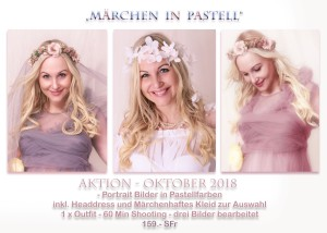 Märchen in pastell by © www.bilifotos.ch Oktober 2018 Pastell Shooting Aktion Luzern Fotostudio