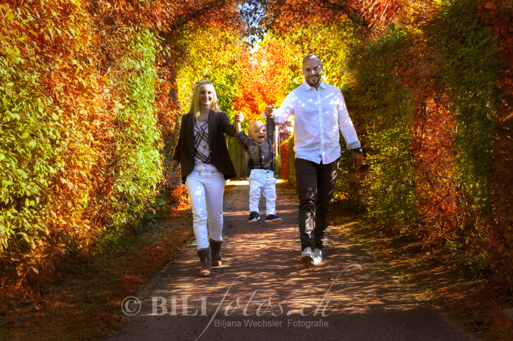 copyright Bilifotos ch herbst sonneschein Familie Outdoor